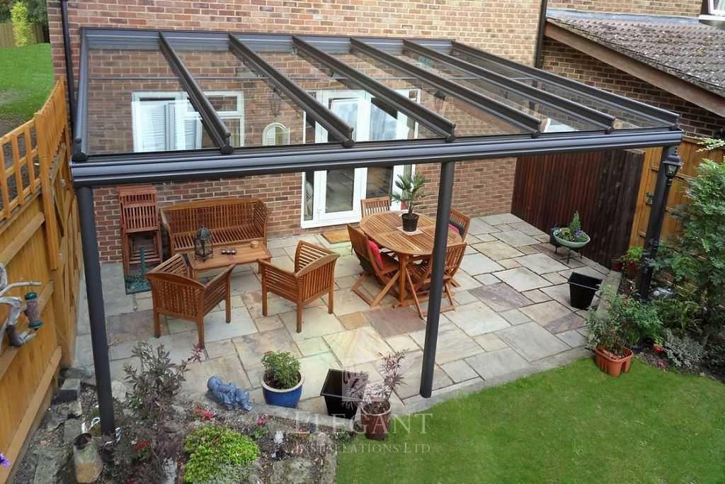 Elegant Glass Verandas provide a protective patio roof ... on Patio Cover Ideas Uk id=21353