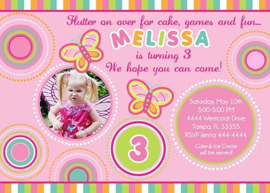 Download Butterfly Birthday Invitations Ideas Download this