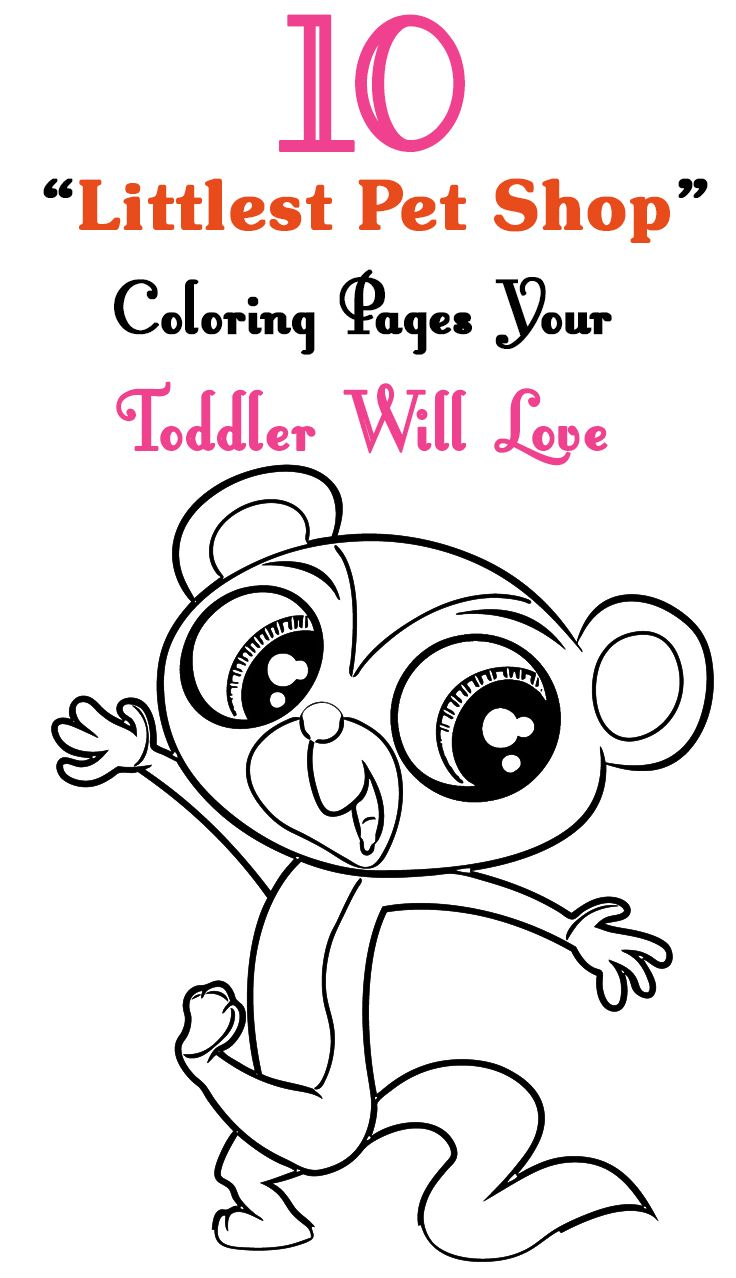 Free coloring pages littlest pet shop - Littlest Pet Shop Coloring Pages For Kids Free Printables
