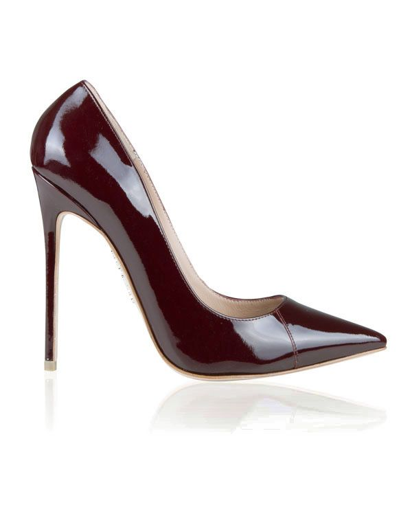 Shoes: 'PARIS' Oxblood Red Patent Leather Pointy Toe Heels