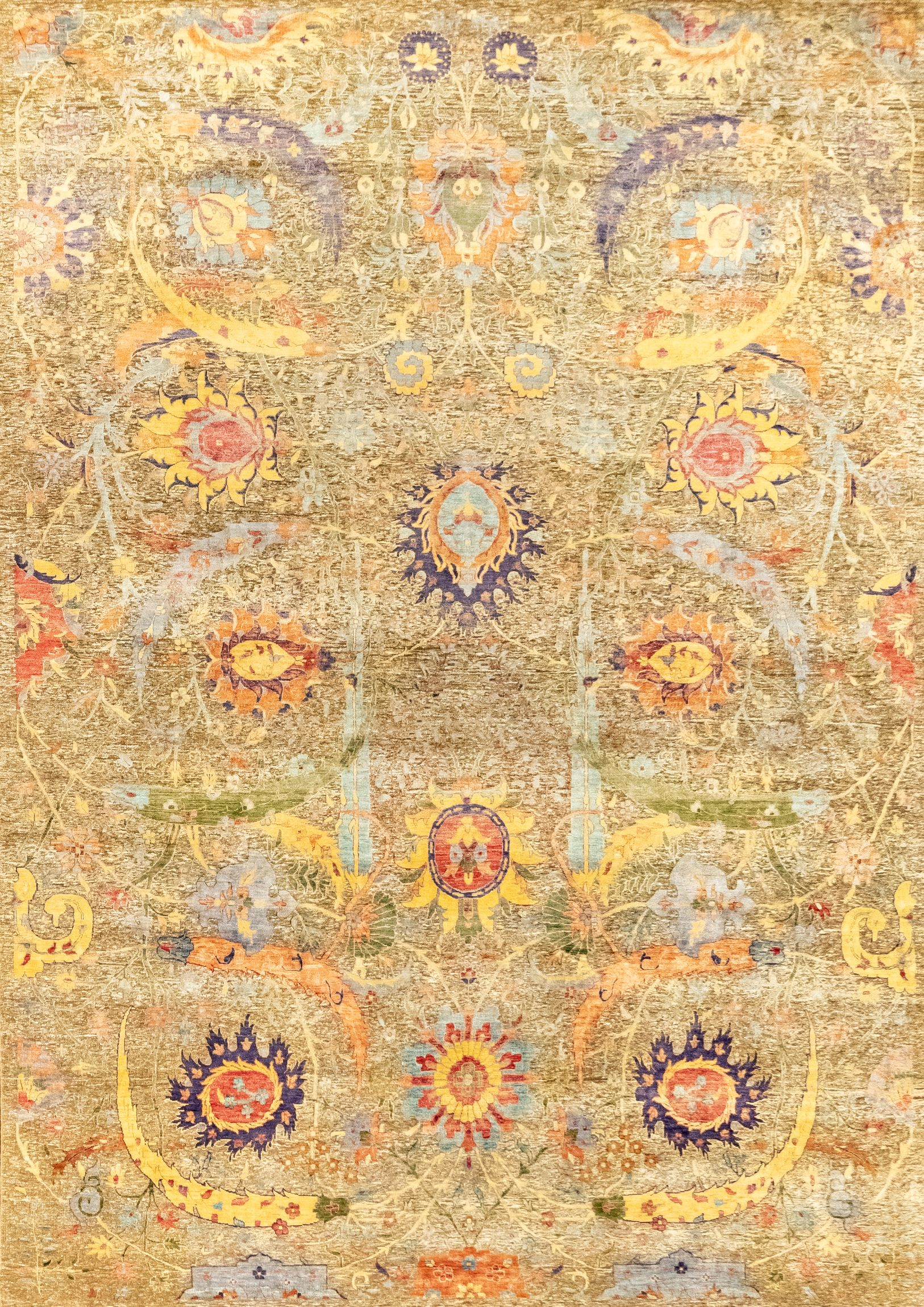 Rug 42967 Oxidized Silk And Wool 10 1x14 Colorful Rugs Rugs Yellow Rug