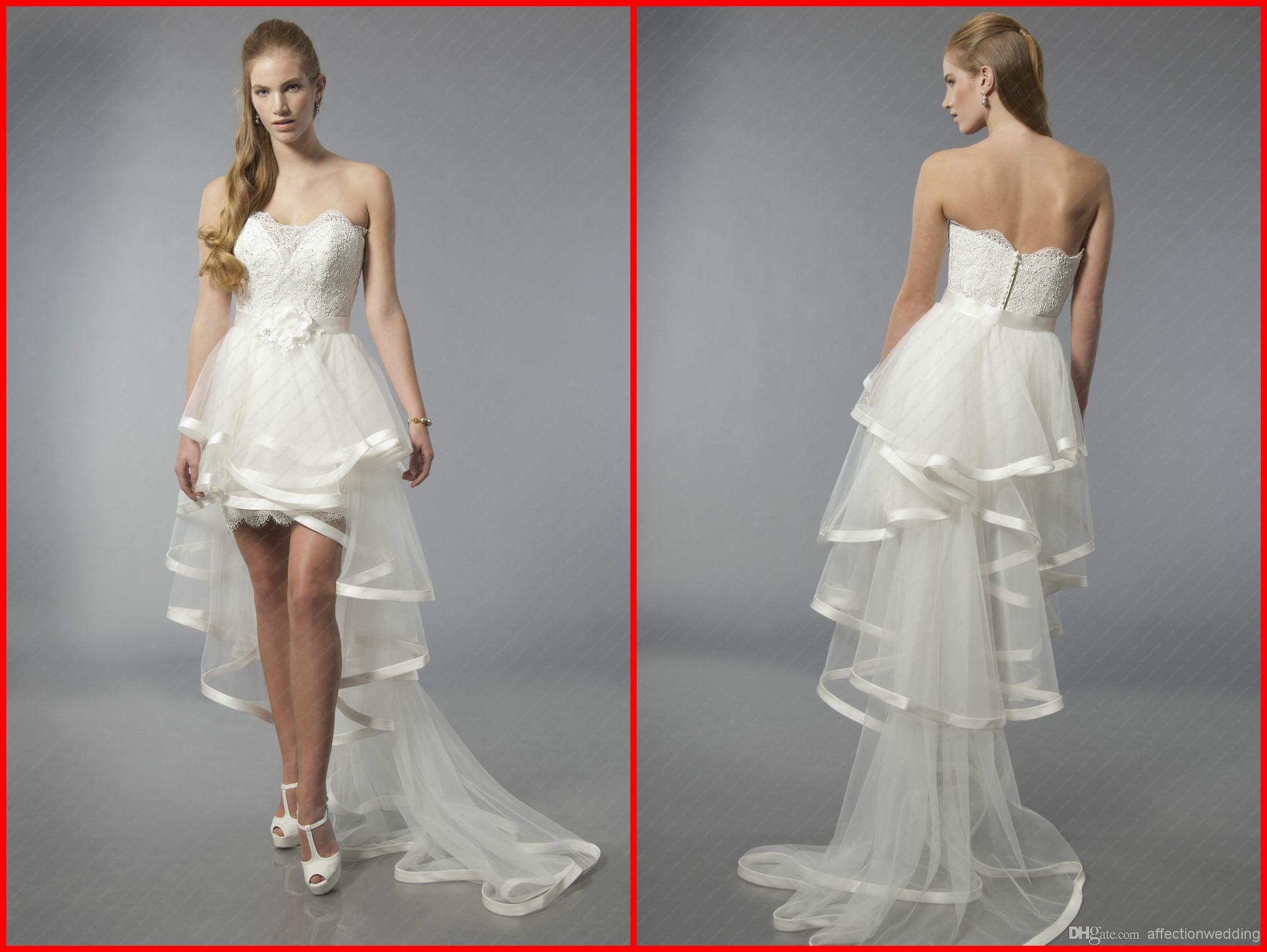 Beautiful Wedding Dresses Detachable Short Mini Online