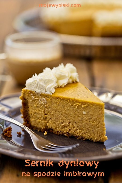Pumpkin Cheesecake with ginger crust