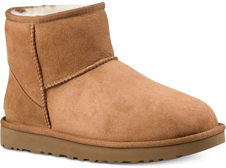 6595a847d11 Ugg Women's Classic Ii Genuine Shearling-Lined Mini Boots - Black in ...
