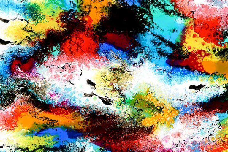 Altitude Iii Maleri Er Et Inspirerende Stort Kunstvaerk I Dejlige Kraftige Farver Malerier Abstract Painting Kunstvaerk