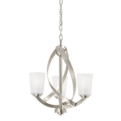 Kichler Lighting Chandelier Light Brushed Nickel Twist - Kitchen light fixtures brushed nickel