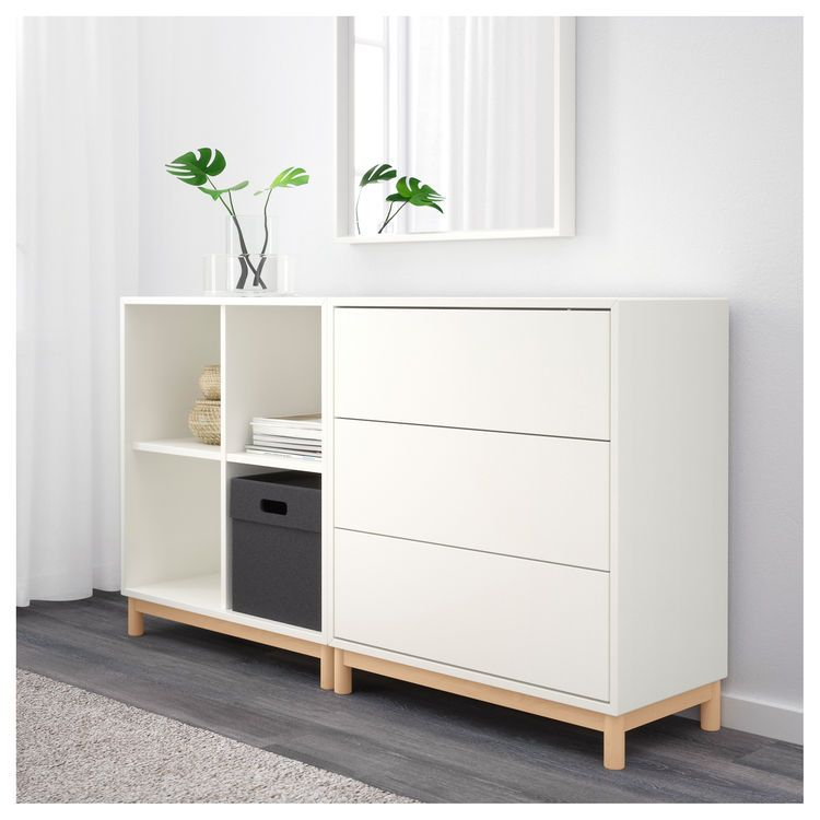 EKET Cabinet combination with legs White 140x35x80 cm ...