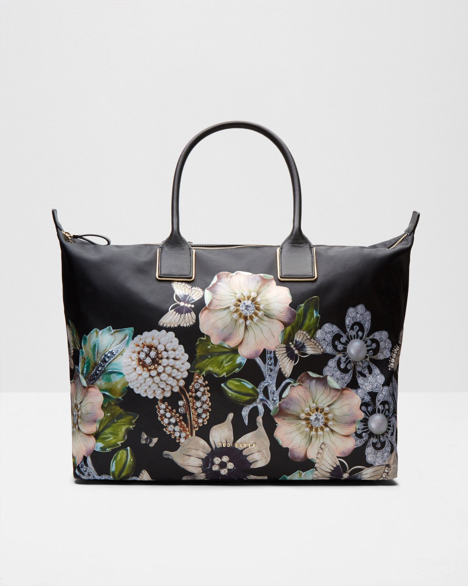 9b06bfcf5a0 Gem Gardens large tote bag - Black   Bags   Ted Baker   Bag   Bags ...