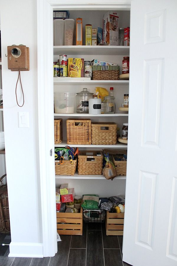 farmhouse pantry makeover reveal | pantry makeover, farmhouse pantry, small pantry closet