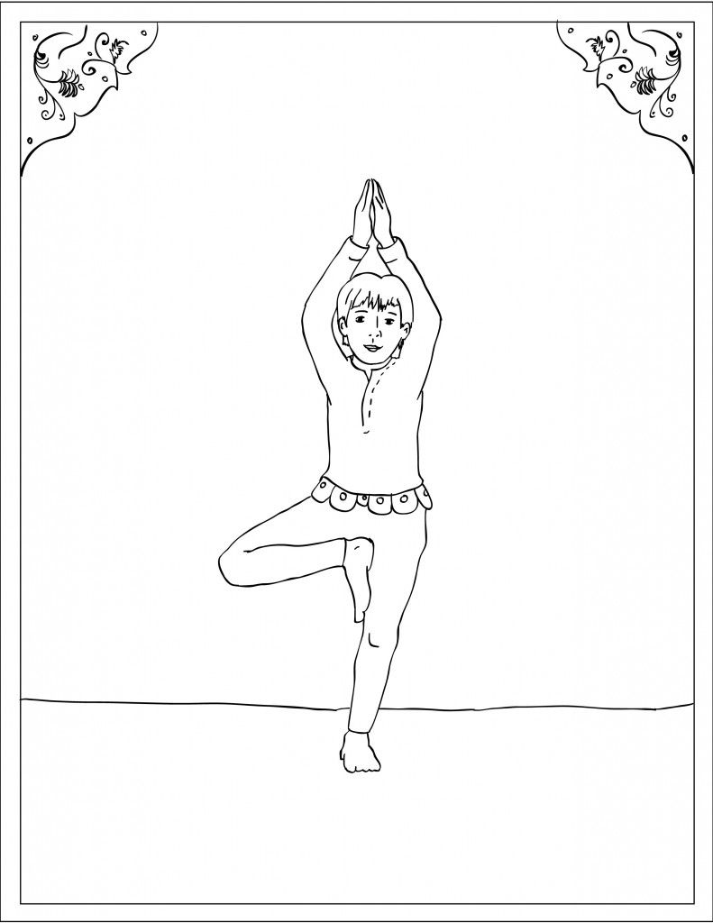Storytime Yoga For Kids With The Queen Of Bohemia Yoga Asana Corner And Coloring Page Tree Pose Vrksasana Yoga For Kids Yoga Coloring Book Childrens Yoga [ 1024 x 791 Pixel ]