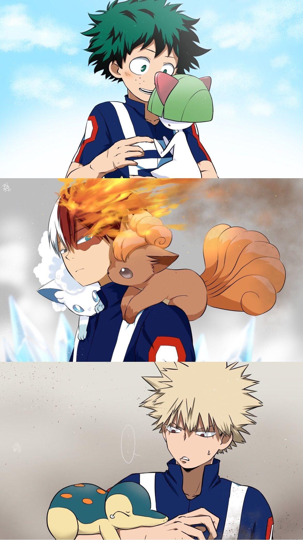 so cuteee! | My Hero Academia X Pokémon | i dont think ralts