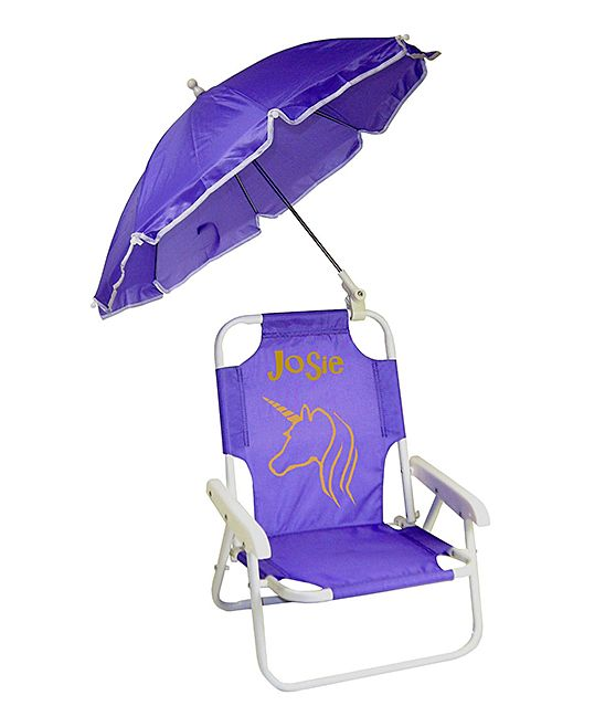 Toddler Beach Chair Personalized Comfortable Computer Purple Unicorn Umbrella Products My Baby Girl Girls