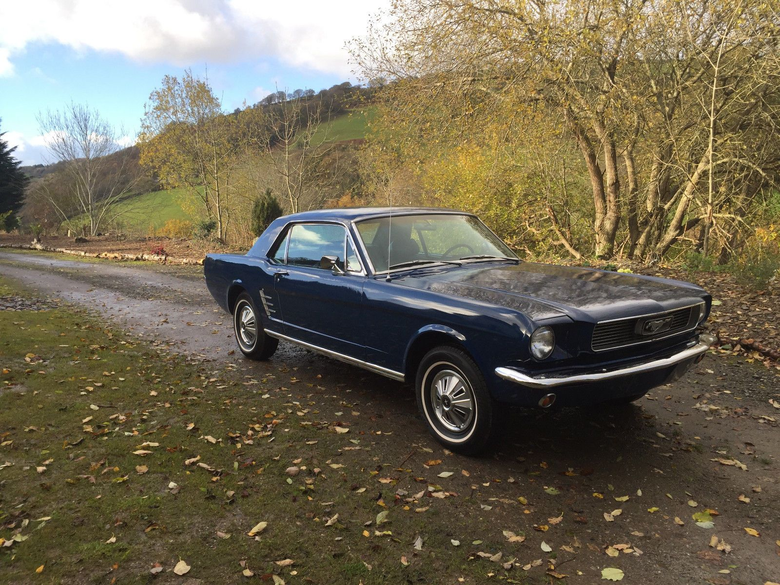 Check Out This Fast Ford Rust Free 1966 Blue Ford Mustang 289 V8