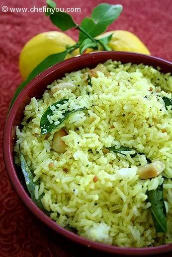 south indian lemon rice recipe rice pulaos n biryanis pinterest vegetarisch indische. Black Bedroom Furniture Sets. Home Design Ideas