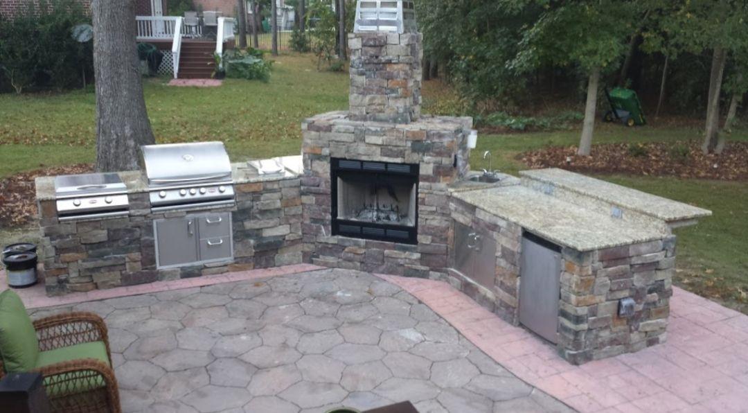 Diy bbq custom fireplace and island frame kit custom