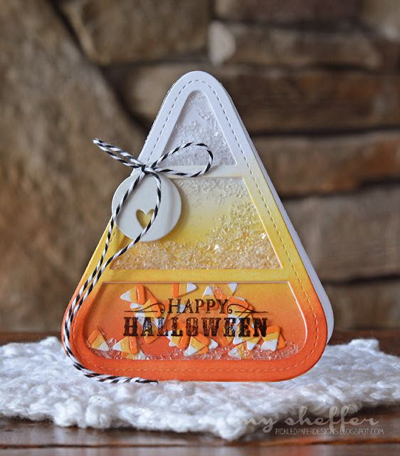 Happy Halloween Shaker Card by Amy Sheffer for Papertrey Ink (August 2015)