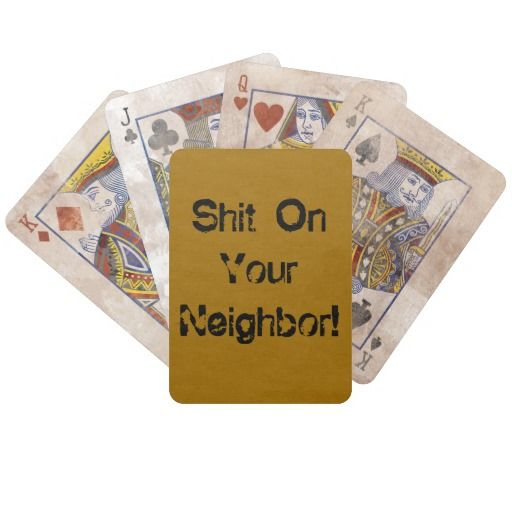 Crap on your neighbor card game bon ton roulet