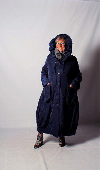Lange Blauwe Winterjas.Sinne Blauwe Lange Winterjas Mantel Ballonmodel Met Knoopsluiting