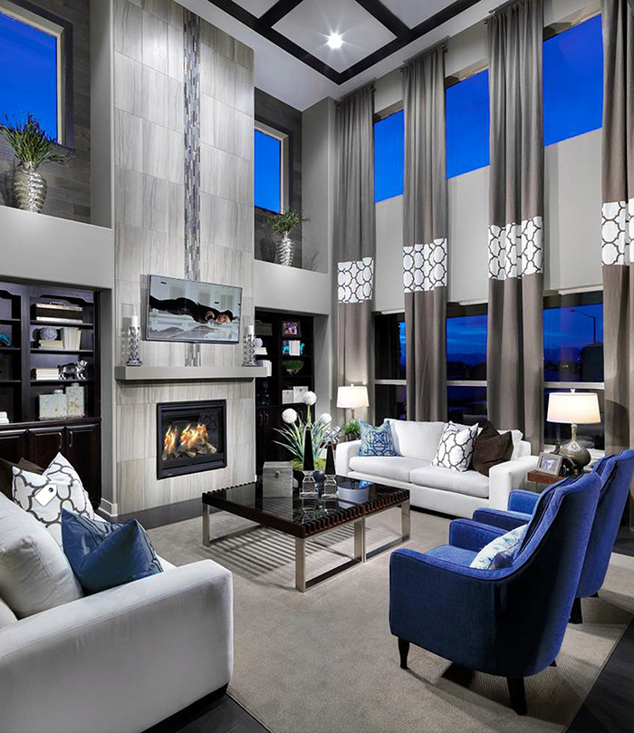 55 Incredible Masculine Living Room Design Ideas Inspirations: Upscale White And Blue Modern Style Living Room Decor With