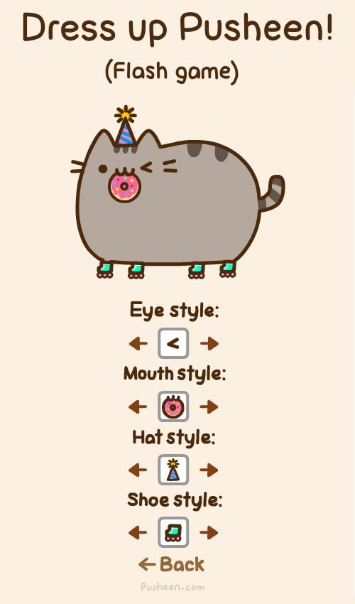 Dress Up Pusheen Flash Game Pusheen The Adorable Bouncy Cat