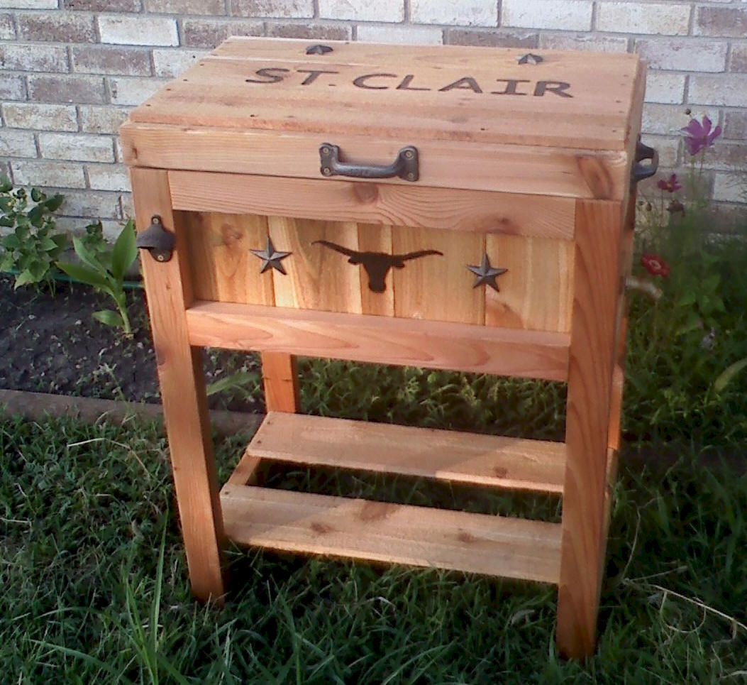 Cowboy Country Coolers Fine Rustic Wooden Ice Chest