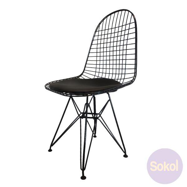 replica eames wire chair - black frame   unique furniture pieces