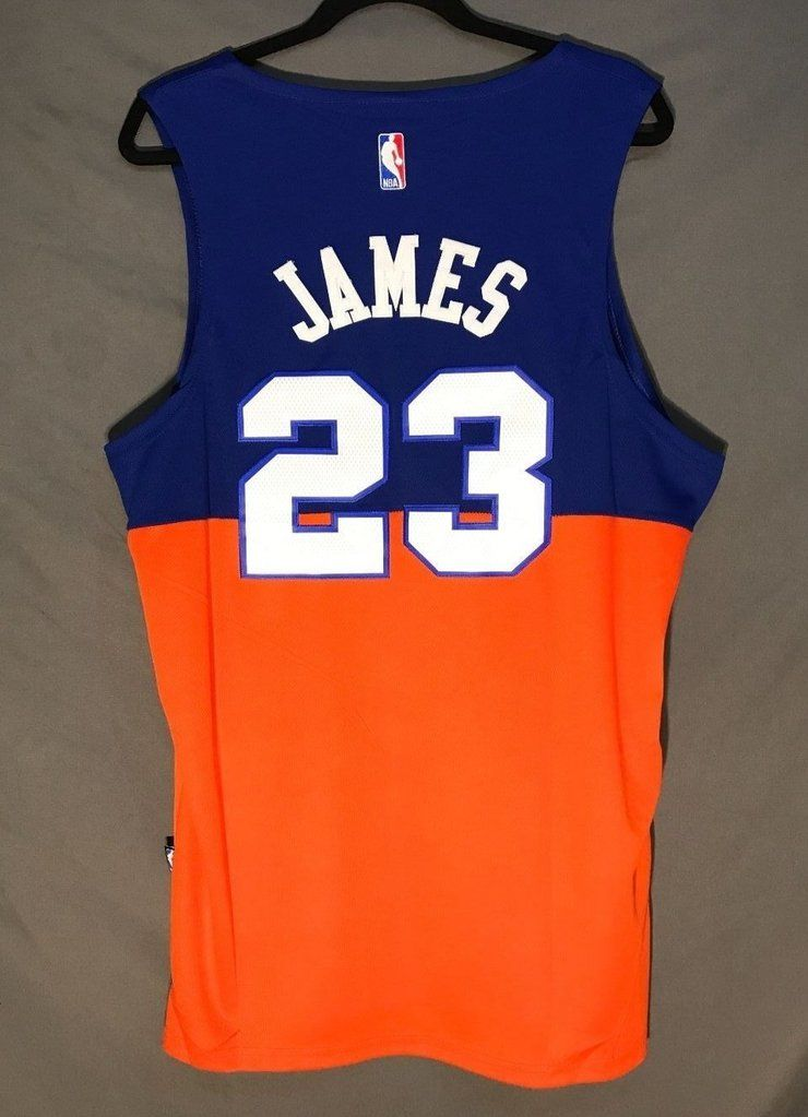 official photos 4a7cb ecae3 Men CAVS 23 Lebron James Jersey Orange Cleveland Cavaliers ...
