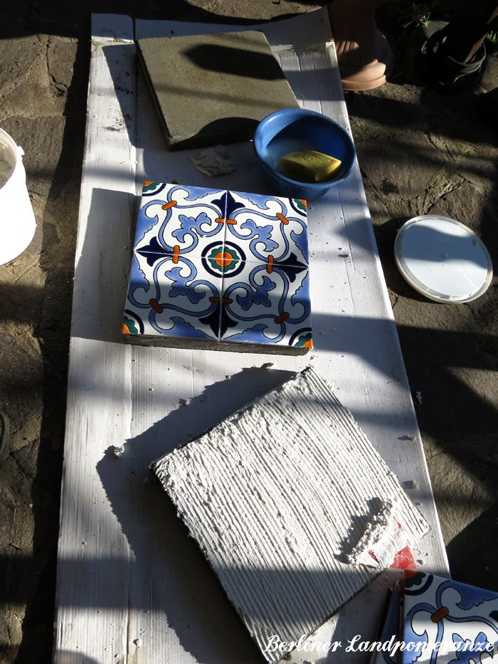Berliner Landpomeranze DIY Waschbetonplatten verschönern - garten gestalten berlin
