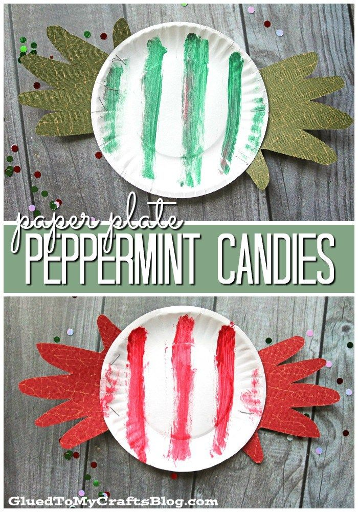 Paper Plate Peppermint Candies - Christmas Kid Craft Idea  sc 1 st  Pinterest & Paper Plate Peppermint Candy - Kid Craft | Peppermint Craft and ...