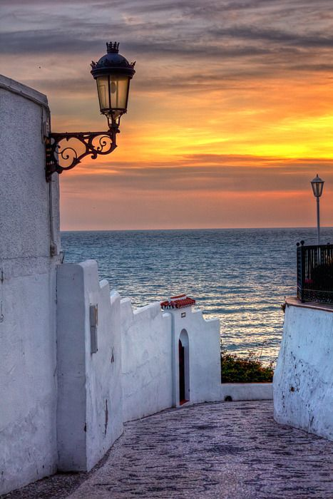 Sunset in Malaga, Spain