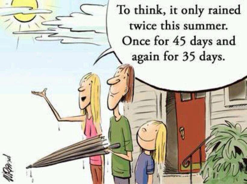 Summer In Scotland Rain Humor Cartoon Caption Contest