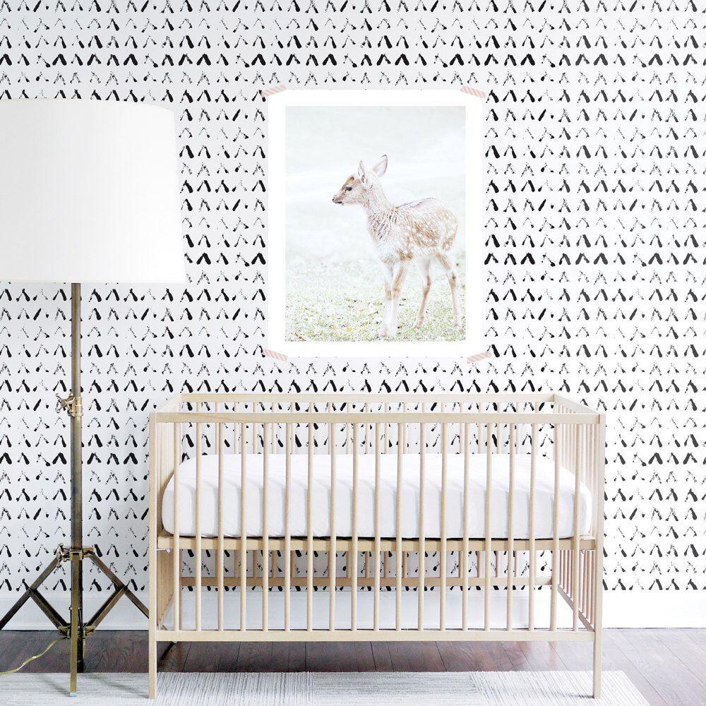 Tribal Wallpaper, Black and White, Kids , Monochrome, Wall