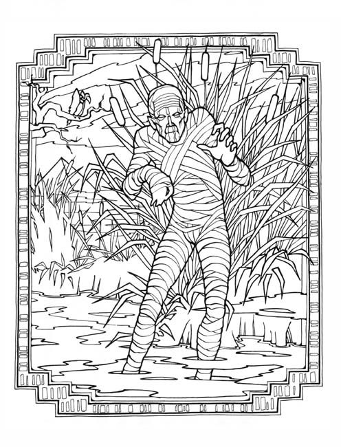 Mummy ~ Monster Colouring Book | Sometimes Naughty Coloring Pages ...