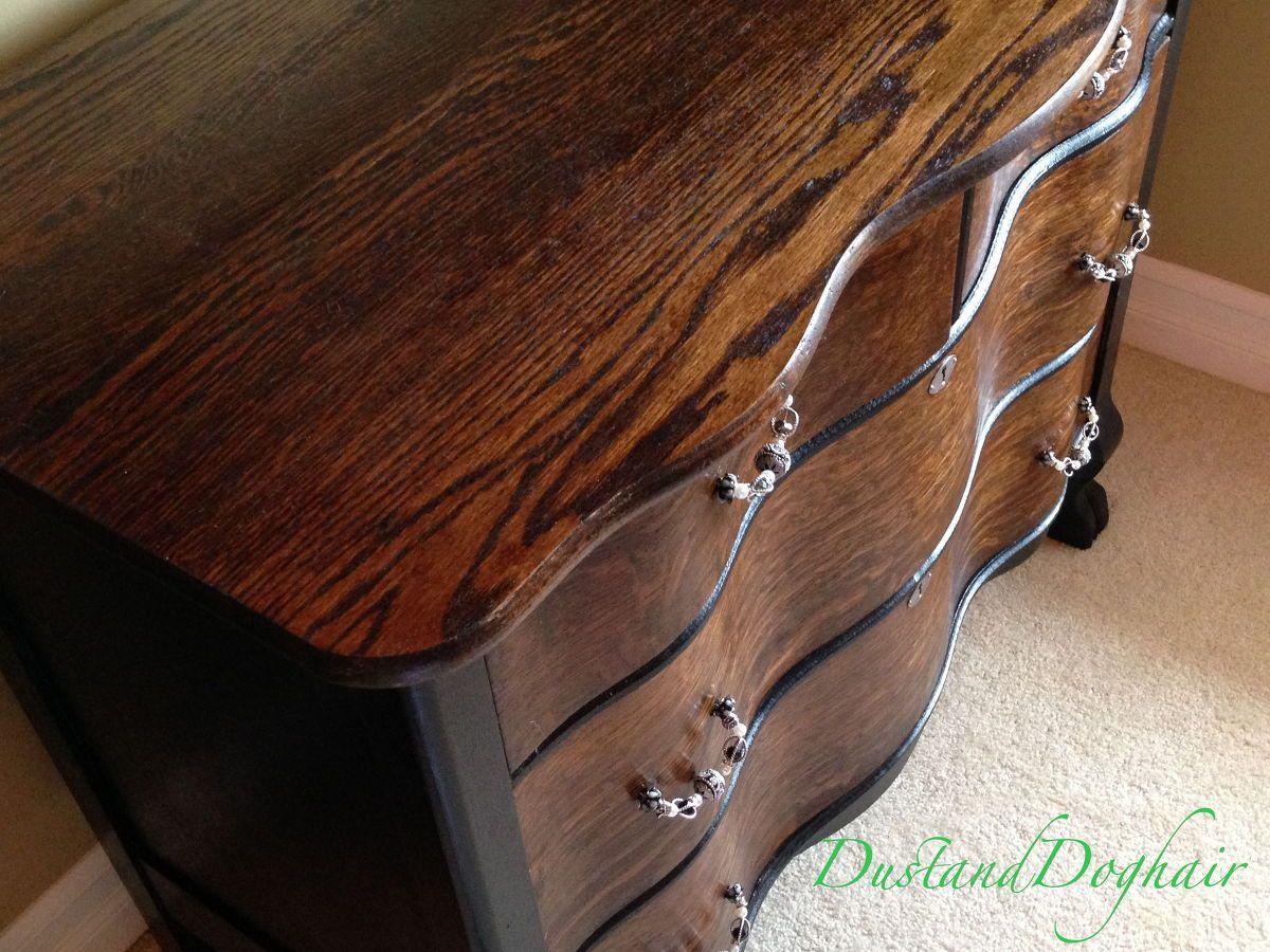 Dresser Makeover With Diy Beaded Drawer Pulls Dresser Makeover Diy Dresser Makeover Serpentine Dresser
