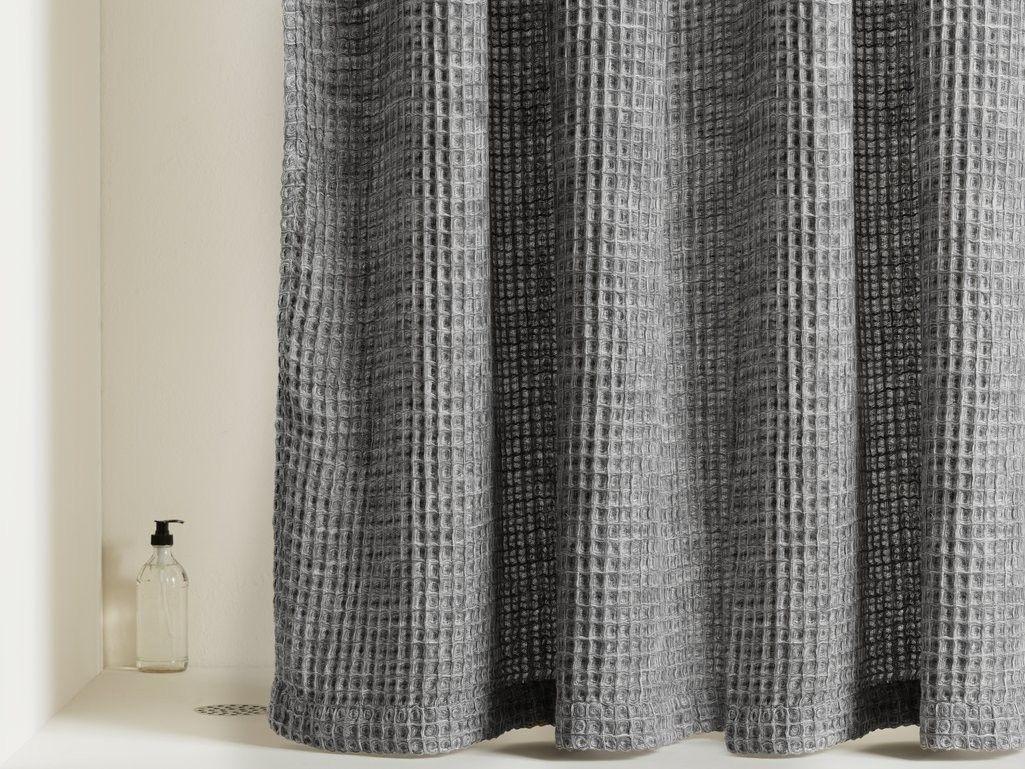 waffle shower curtain waffle weave