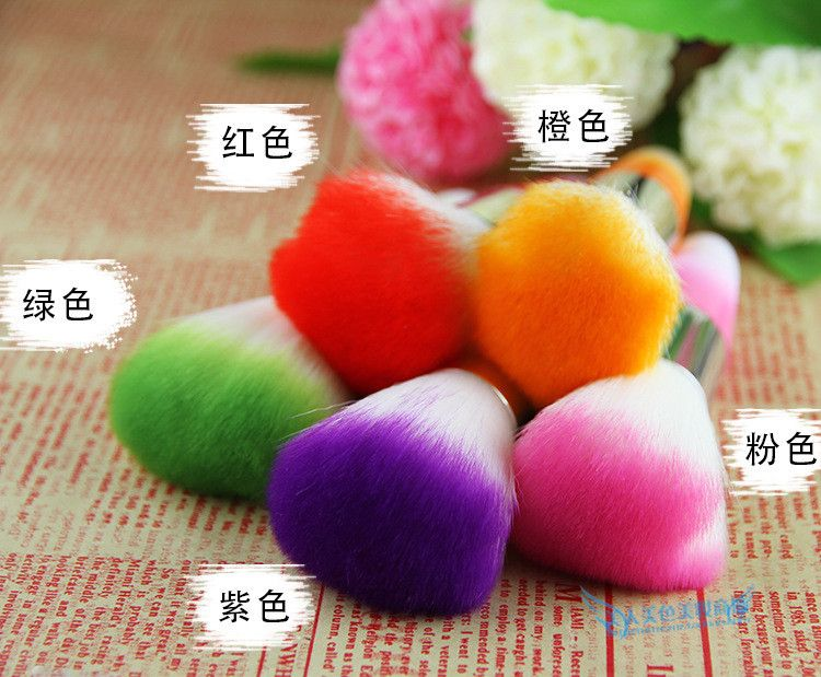 Fashion  Mini Portable Nail Arts Soft Cleaning Brushes UV Gel Powder Dust Makeup Professional Nail Brush Cleaner