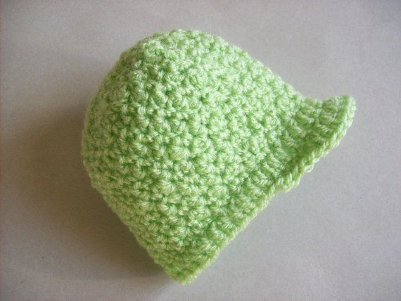 Micro Premature baby hat 1-3lb peaked cap preemie beannie Crochet Pattern instant digital download reborn doll NICU SCBU