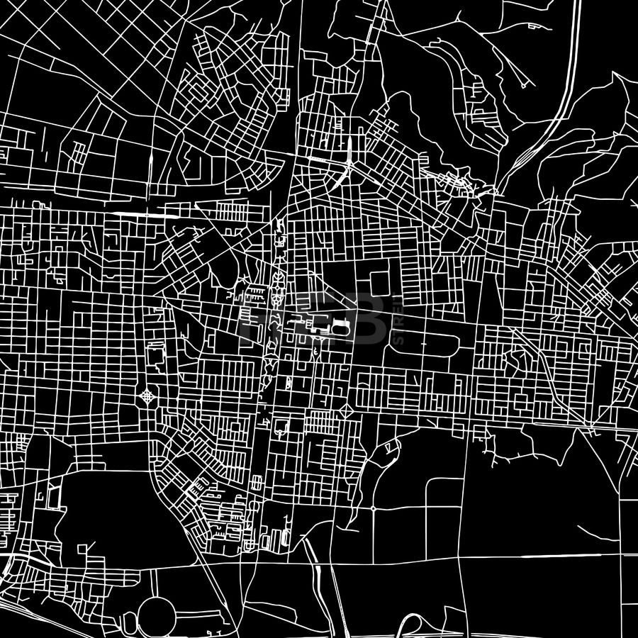 Incheon Korea South Downtown Vector Map