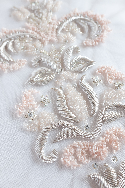 1 Pair Lace Applique Stickerei Motif DIY Hochzeits Sewing handwerk Dekoration