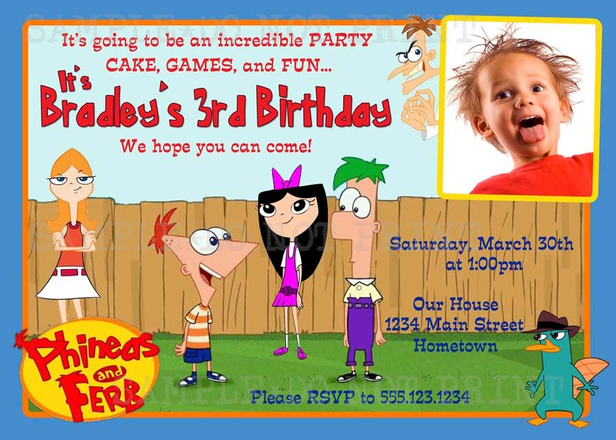 1000 images about Phineas and Ferb – Phineas and Ferb Birthday Card
