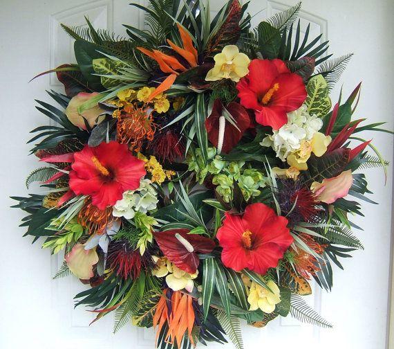 Charmant I U003c3 Tropical Wreath Custom Order Door #wreath By #WreathsbyKimberly,  $155.00