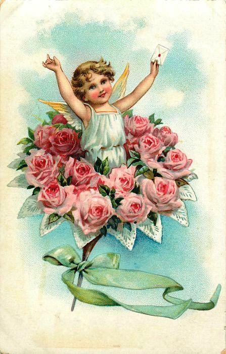 Открытка с днем ангела цветы