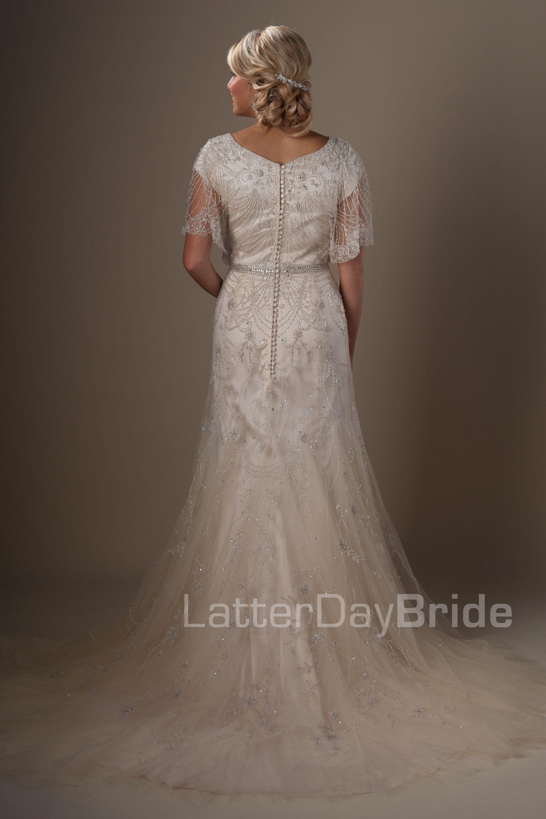 Modest Wedding Dresses : Penelope. Latter Day Bride, Gateway Bridal ...