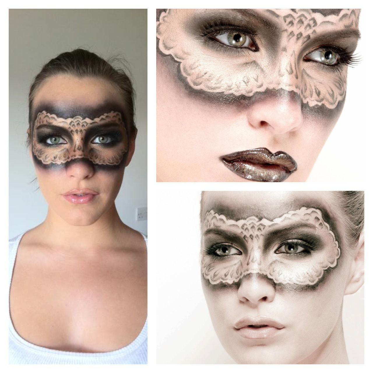 Masquerade make up When witches go riding, and black