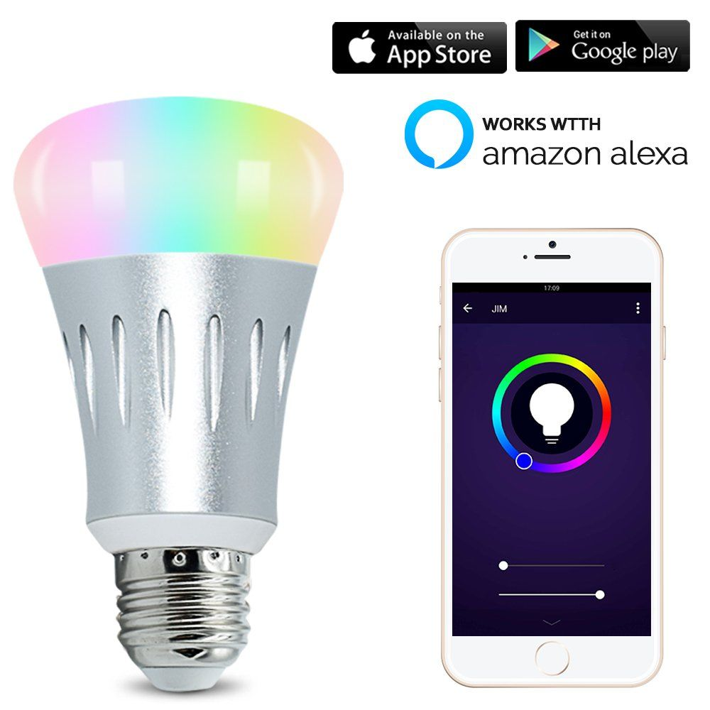 LED Smart Light Bulb, WIFI light, Multicolored Color Changing Bulbs ...