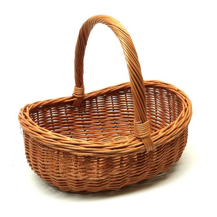 Wicker Hamper Baskets With Handles : Image of wicker basket styles baskets cafes