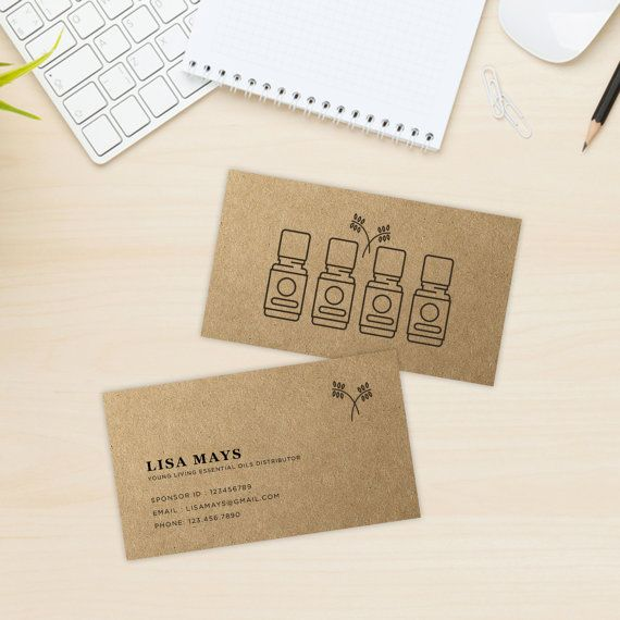 Essential Oils Printable Business Card Essential Oils Distributor