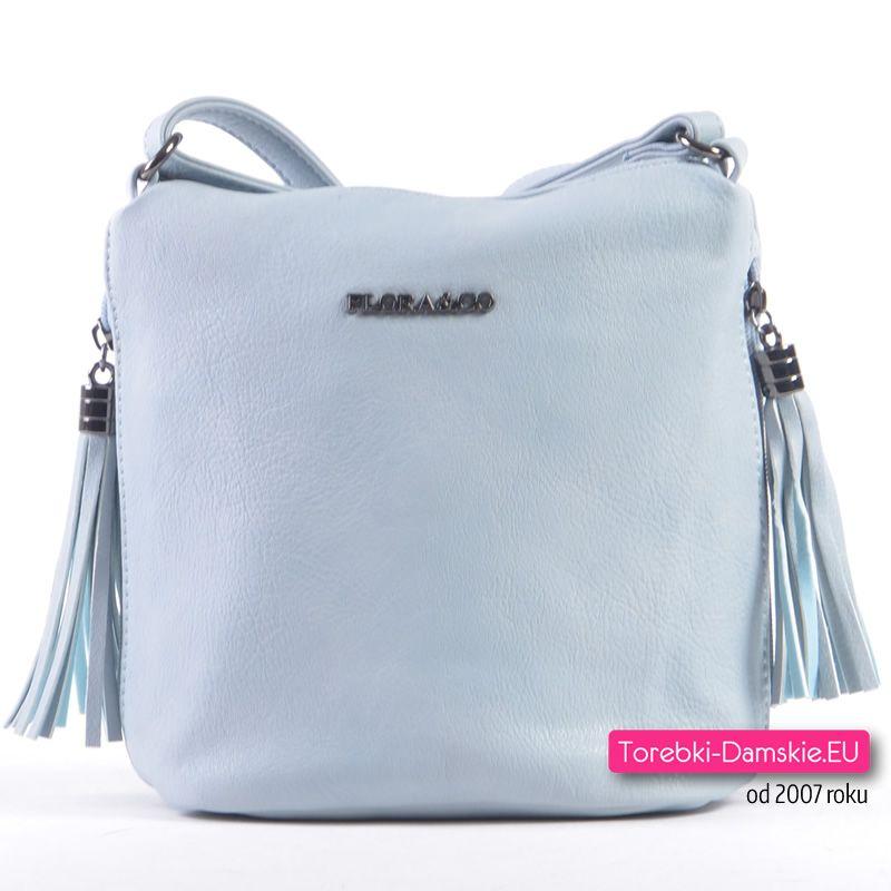 3ccf3eb2b7aa8 Błękitna mała torebka damska - specjalna cena promocyjna