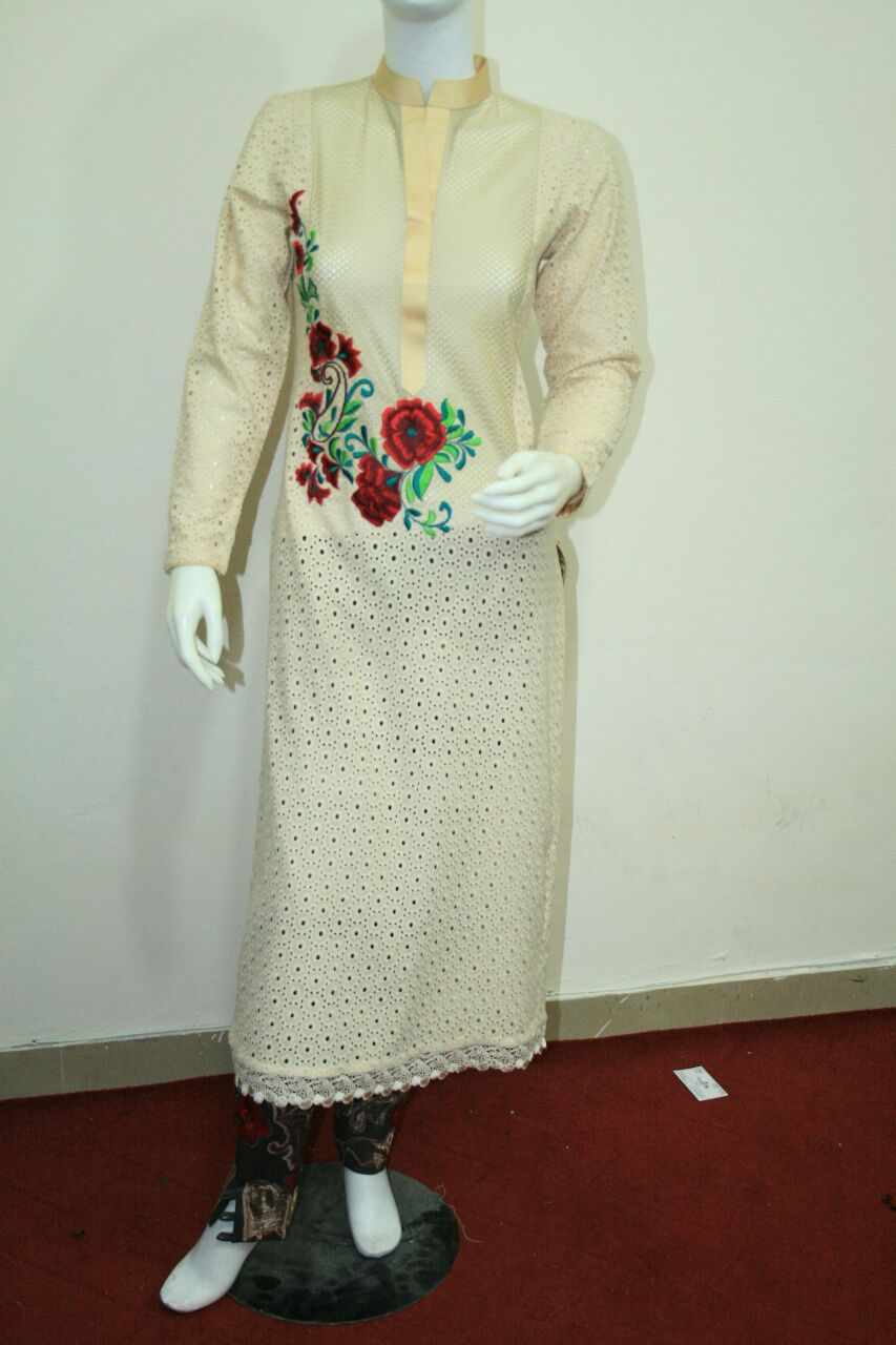 chiken cotton machine embroidery cotton trouser chiffone dupata hole sale 2000pkr