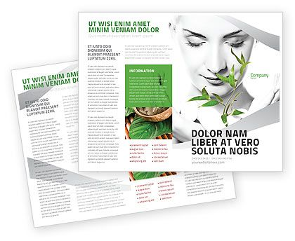 Bio Cosmetics Brochure Template   Green Flyers Brochures